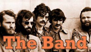 Los miembros del grupo de música americana The Band